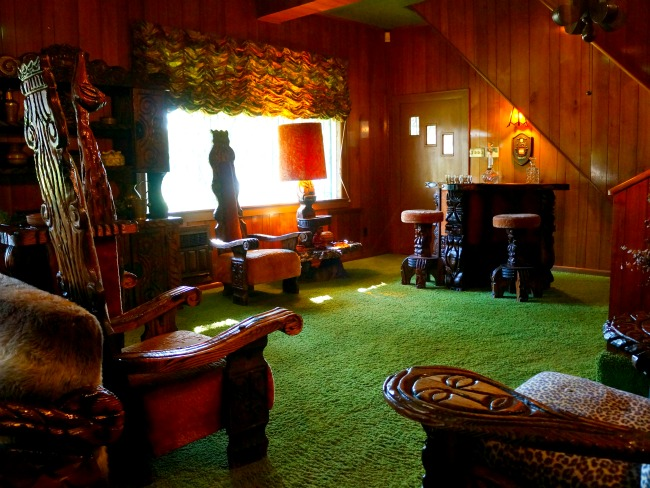 Elvis Presley's Jungle Room in Graceland