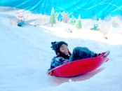 Snow sledding at Discovery Cube // LMVLblog.
