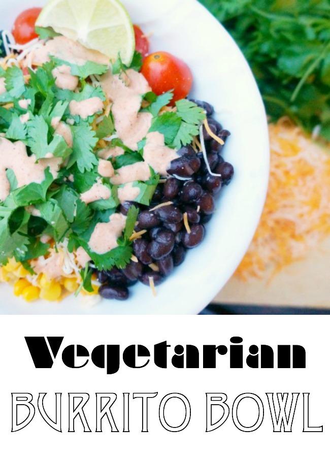 How to make a vegetarian burrito bowl without lettuce | livingmividaloca.com | #vegetarianburritobowl #burritobowl #howtomakeaburritobowl #vegetarianburrito #nolettucesalad #lettucefreesalad
