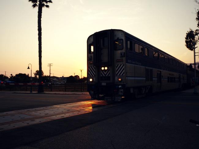 Amtrak in Carpinteria // LivingMiVidaLoca.com