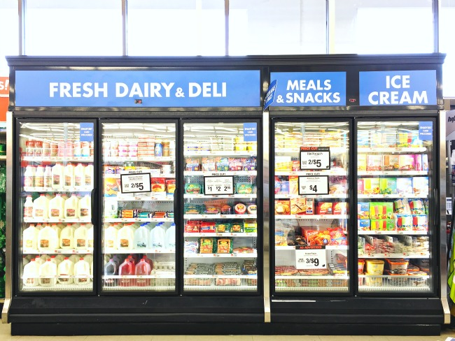 Refrigerated foods at Big Lots // livingmividaloca.com