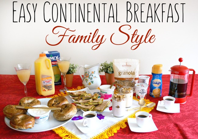 Easy continental breakfast family style
