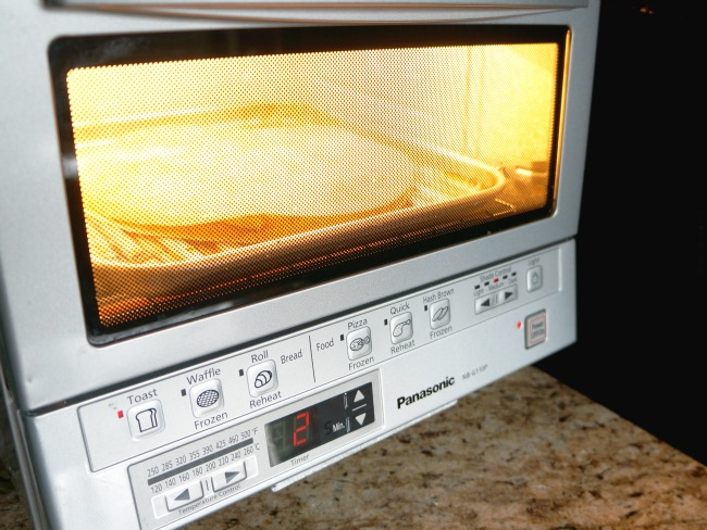 Make quesadilla in toaster oven