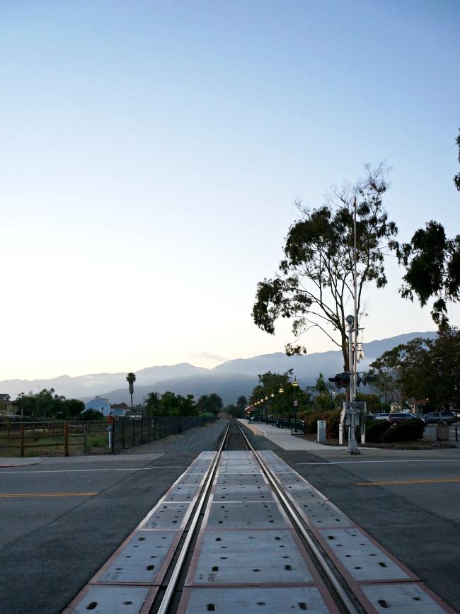 Railroad tracks in Carpinteria