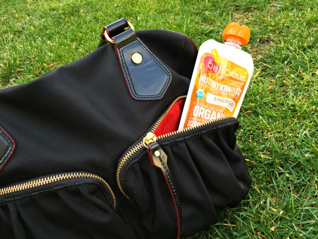 Belicious pouch in handbag // Belicious cleansing pouches // LivingMiVidaLoca.com