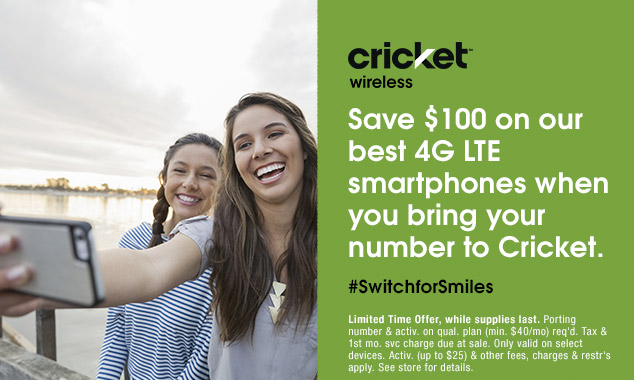 4G LTE smartphones on the Cricket Wireless deal