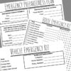 Emergency Preparedness Plan Printables