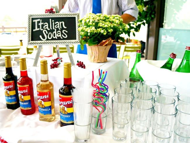 Italian soda station // Pizza Party at Downtown Disney // LivingMiVidaLoca.com