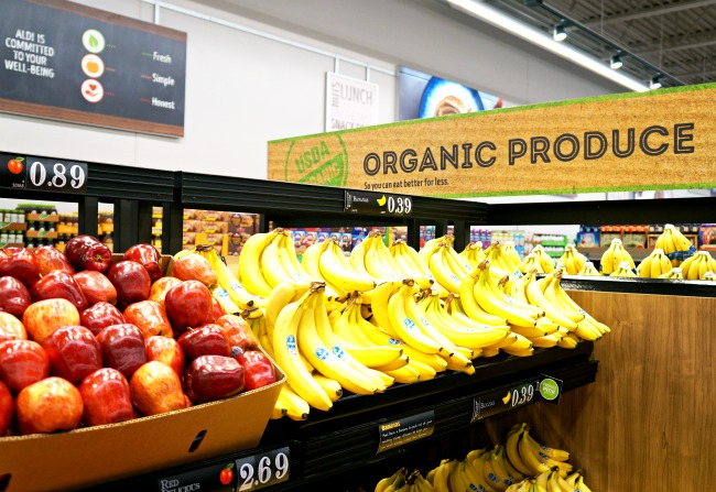 ALDI organic produce //  ALDI openings in Southern California // LivingMiVidaLoca.com