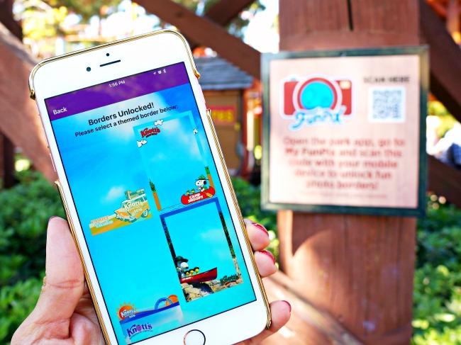 FunPix borders on app // FunPix at Knott's Berry Farm // LivingMiVidaLoca.com