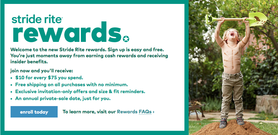 Stride Rite rewards program