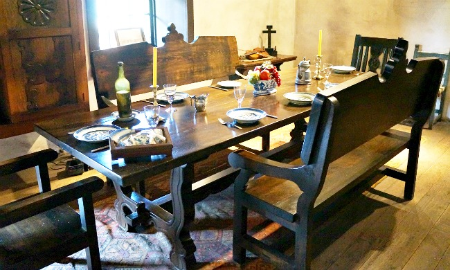 Avila Adobe dining room - Placita Olvera day trip - Living Mi Vida Loca