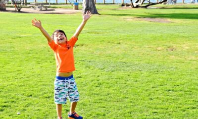 Boy wearing Stride Rite Phibian shoes : Visiting La Jolla Cove in the perfect Summer shoes : LivingMiVidaLoca.com