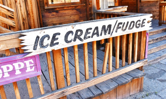 Ice cream shop at Calico Ghost Town - Calico Ghost Town - Living Mi Vida Loca
