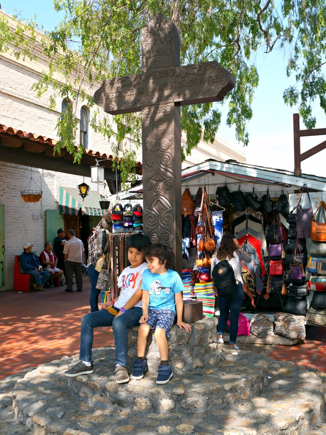 Kids visiting Placita Olvera in Los Angeles - Placita Olvera day trip - Living Mi Vida Loca