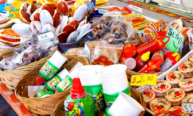 Mexican candy at Olvera Street - Placita Olvera day trip - Living Mi Vida Loca (photo credit: Pattie Cordova)