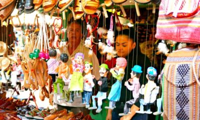 Mexican puppets sold in Mexican shop - Placita Olvera day trip - Living Mi Vida Loca