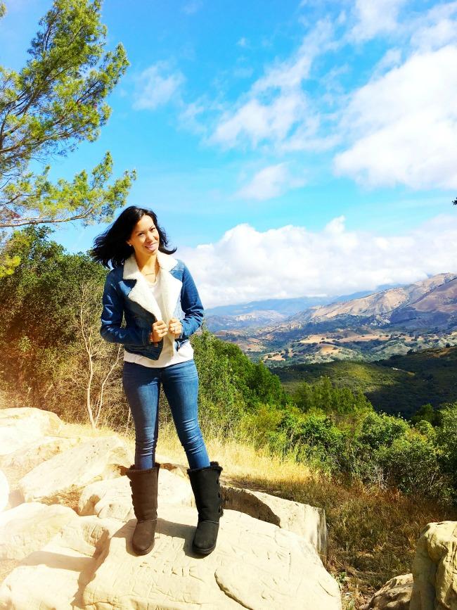 Pattie Cordova on top of mountain in Central California : LivingMiVidaLoca.com