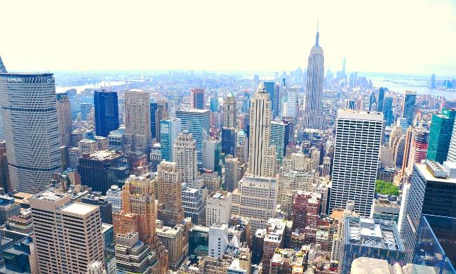 View from 30 Rock in New York City. movies filmed in NYC - LivingMiVidaLoca.com