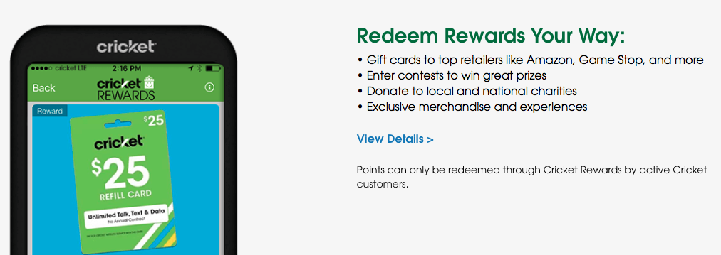 Redeem Cricket Rewards