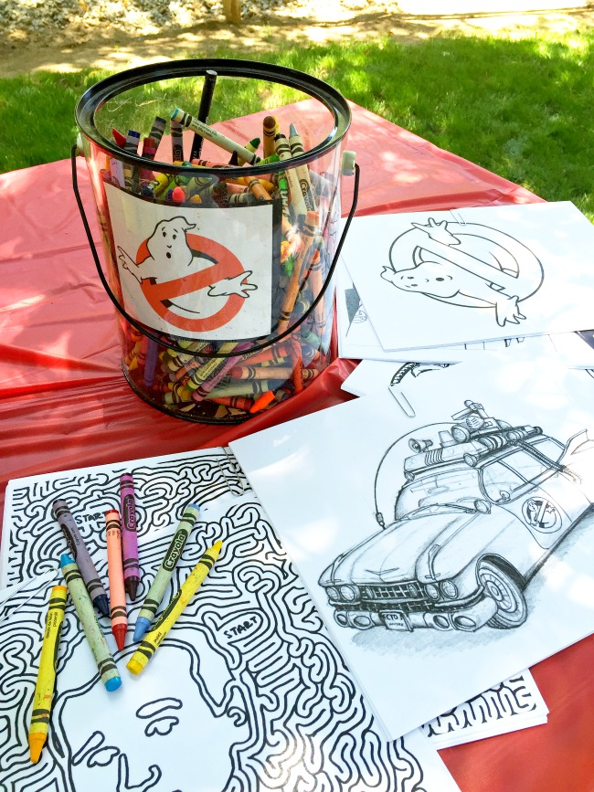 Ghostbusters coloring pages : Ghostbuster Party : LivingMiVidaLoca.com (photo credit: Pattie Cordova)