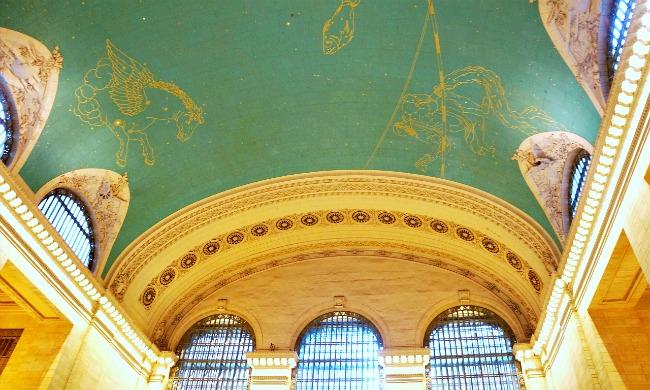 Grand Central ceiling in New York. movies filmed in NYC - LivingMiVidaLoca.com