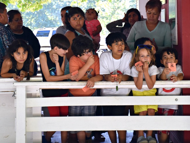 Kids waiting for train at train station : Ghostbuster Party : LivingMiVidaLoca.com (photo credit: Pattie Cordova)