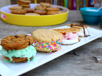 A Variety of Ice Cream Sanwiches - LivingMiVidaLoca.com