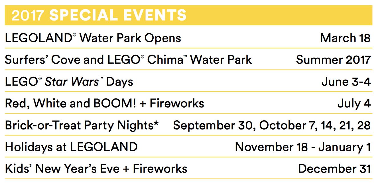 LEGOLAND special events play pass - livingmividaloca.com