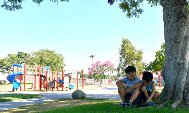 Young Mexican boys hanging out at the park - livingmividaloca.com