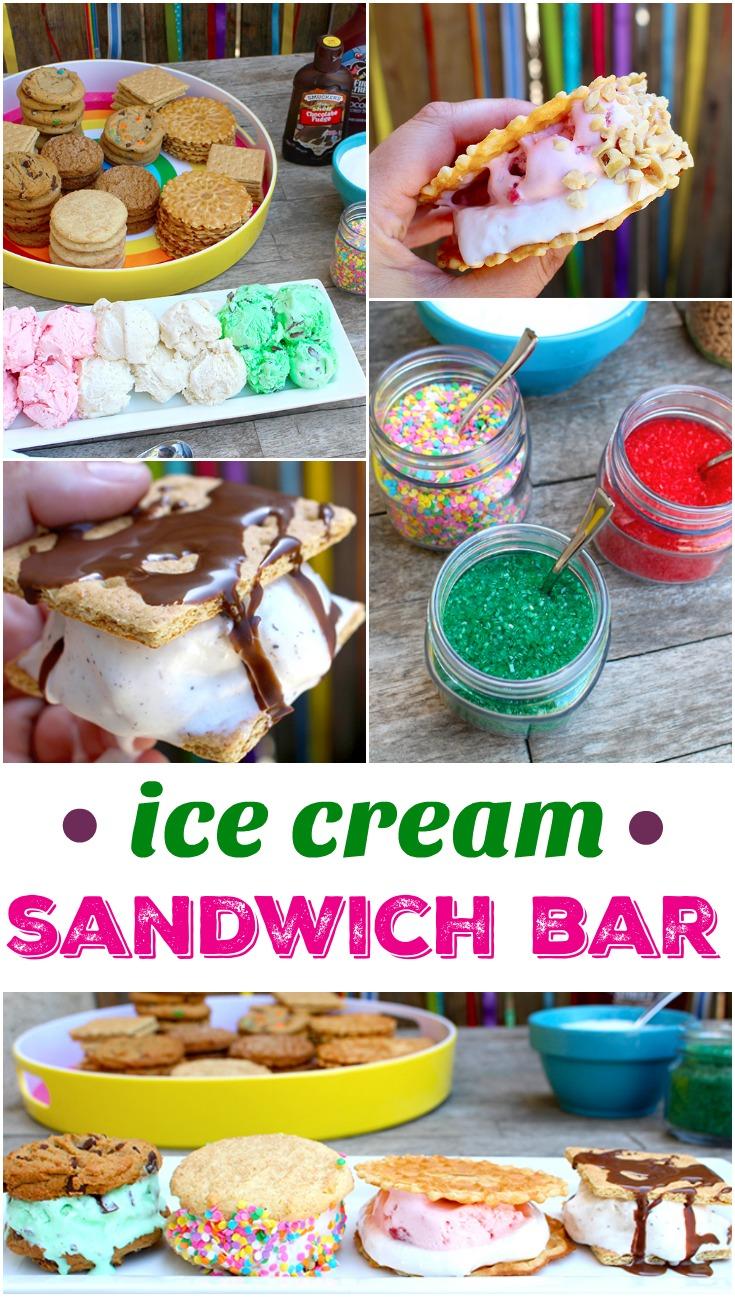 ice cream sandwich bar ideas - livingmividaloca