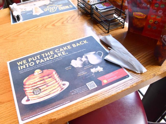 new fluffier pancakes at Denny's Diner - LivingMiVidaLoca.com