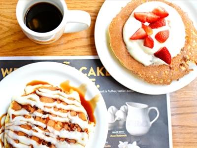Savory pancakes at Denny's Diner - LivingMiVidaLoca.com
