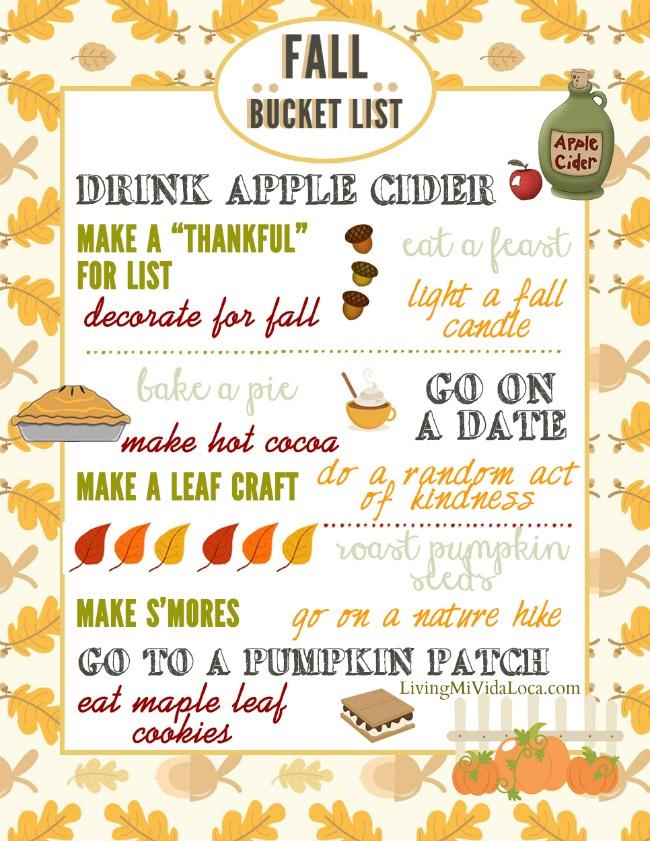Fall activities list for families to do together - livingmividaloca.com | #fall #falldecorations #fallprintable #thingstodoinfall #falldecor #decoratingforfall #diyfalldecor #easyfalldecor