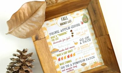 Free Fall bucket list printable to use at home - livingmividaloca.com