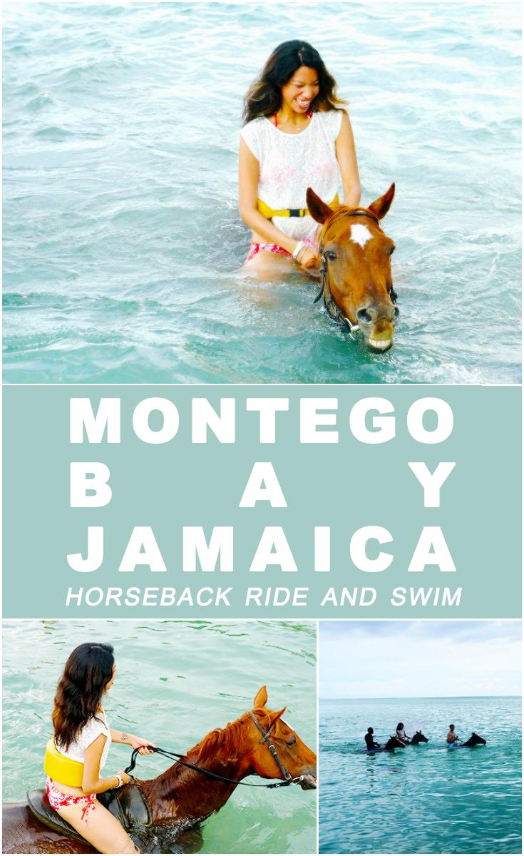 Horseback Ride and Swim in Montego Bay, Jamaica . What to expect during a horseback ride and swim experience. | LivingMiVidaLoca.com | #LivingMiVidaLoca #Jamaica #MontegoBay #Travel