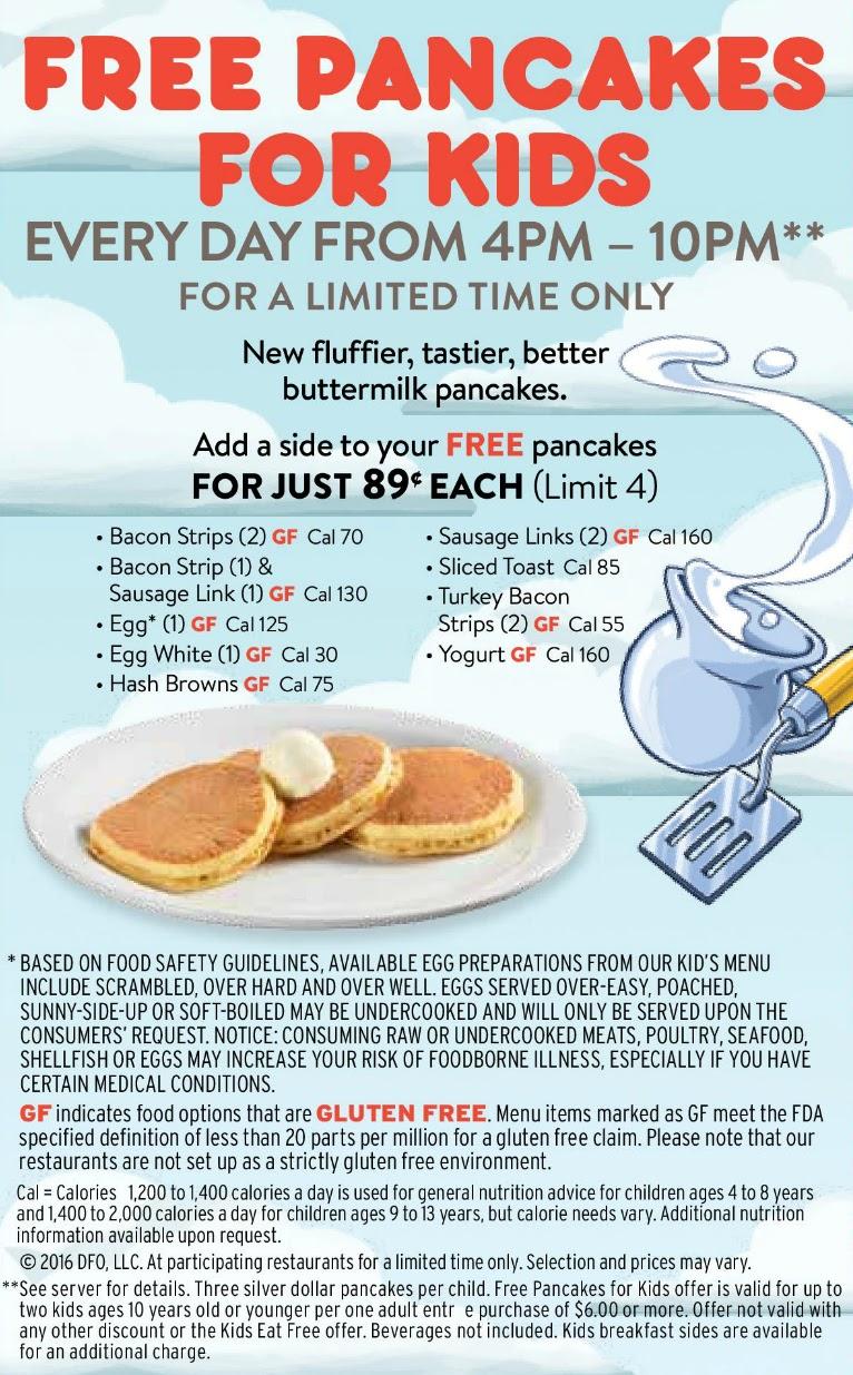 Denny's free pancakes for kids and No Kid Hungry - LivingMiVidaLoca.com