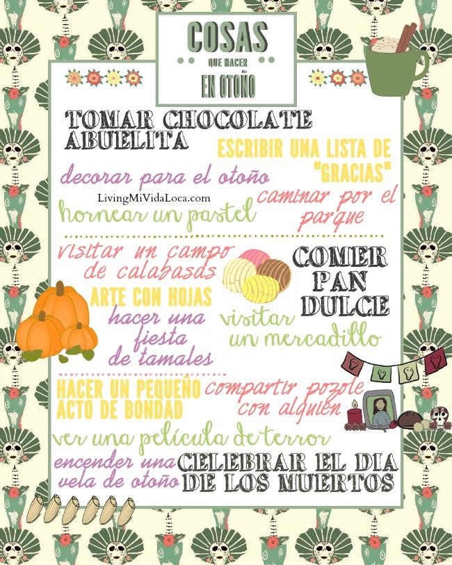 Cosas que hacer en otoño imprimible gratis - LivingMiVidaLoca.com