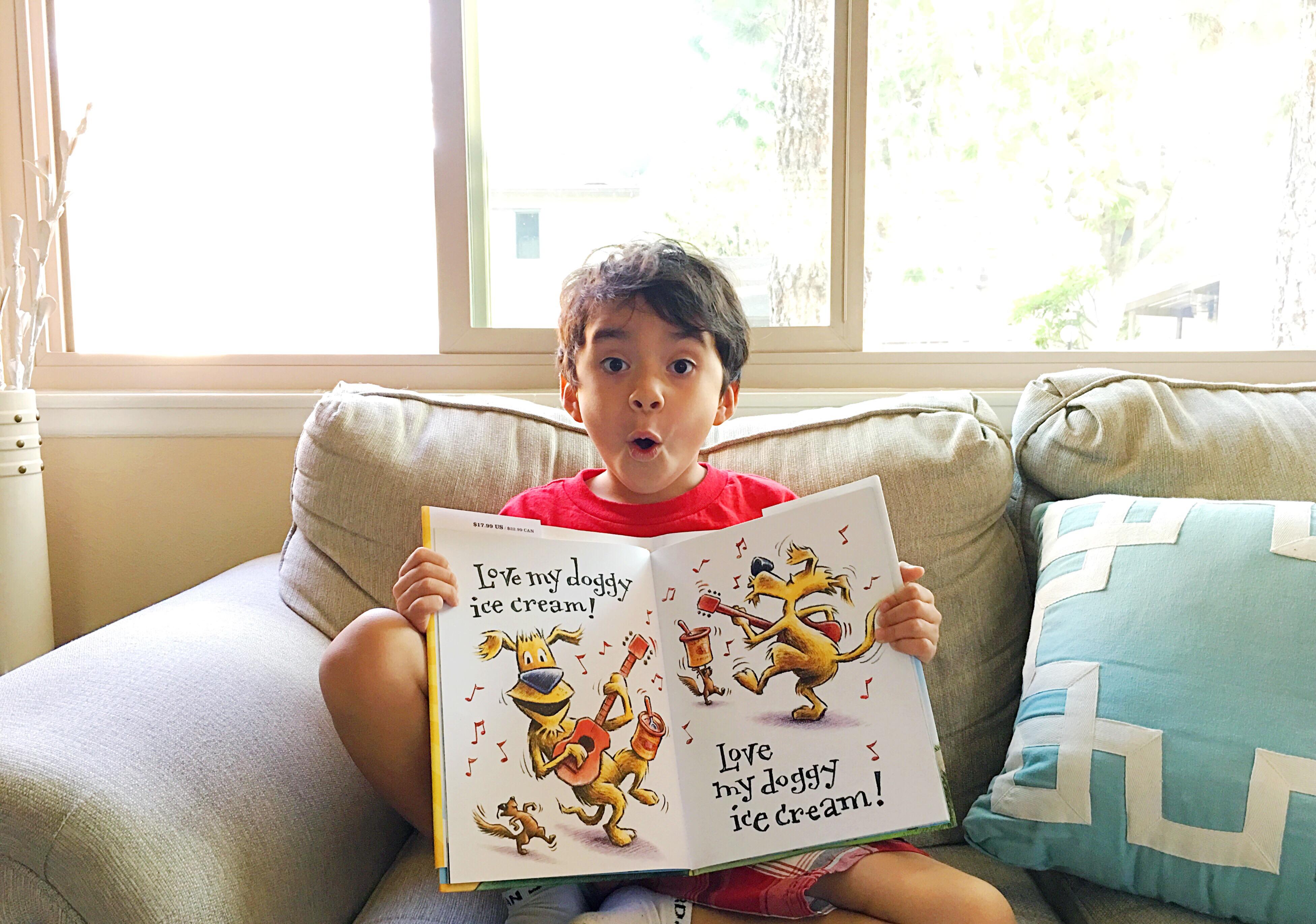 Boy reading Groovy Joe - LivingMiVidaLoca.com
