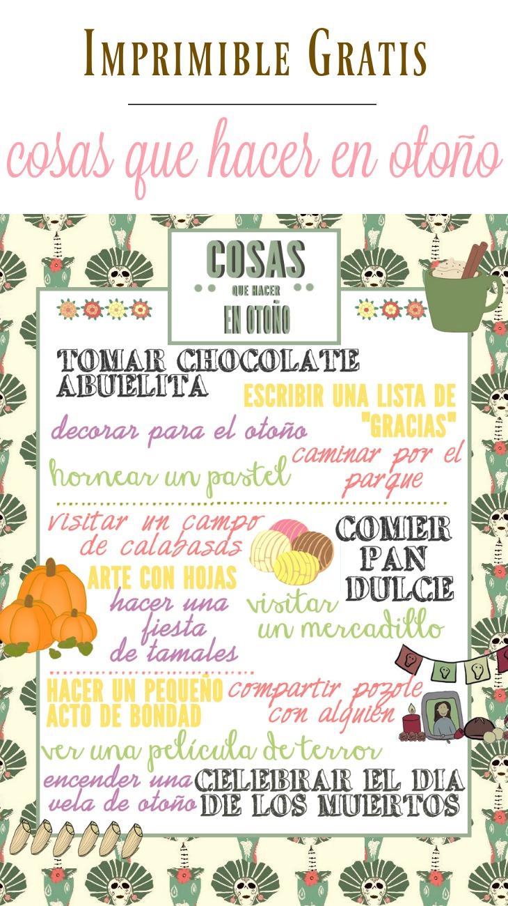 """Imprimible gratis """"Cosas que hacer en otoño"""" - LivingMiVidaLoca.com"""
