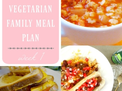 weekly vegetarian family meal plan : week 1 - LivingMiVidaLoca.com