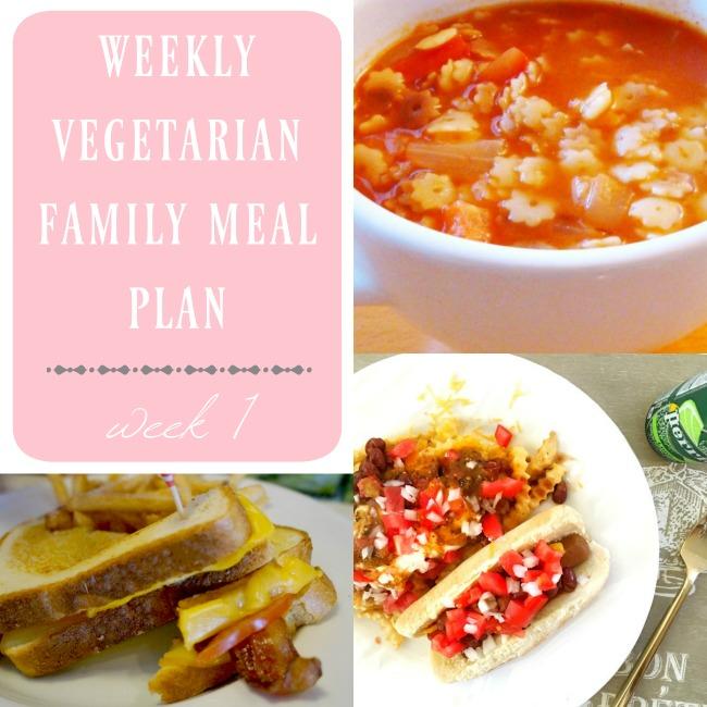 weekly vegetarian family meal plan : week 1 - LivingMiVidaLoca.com
