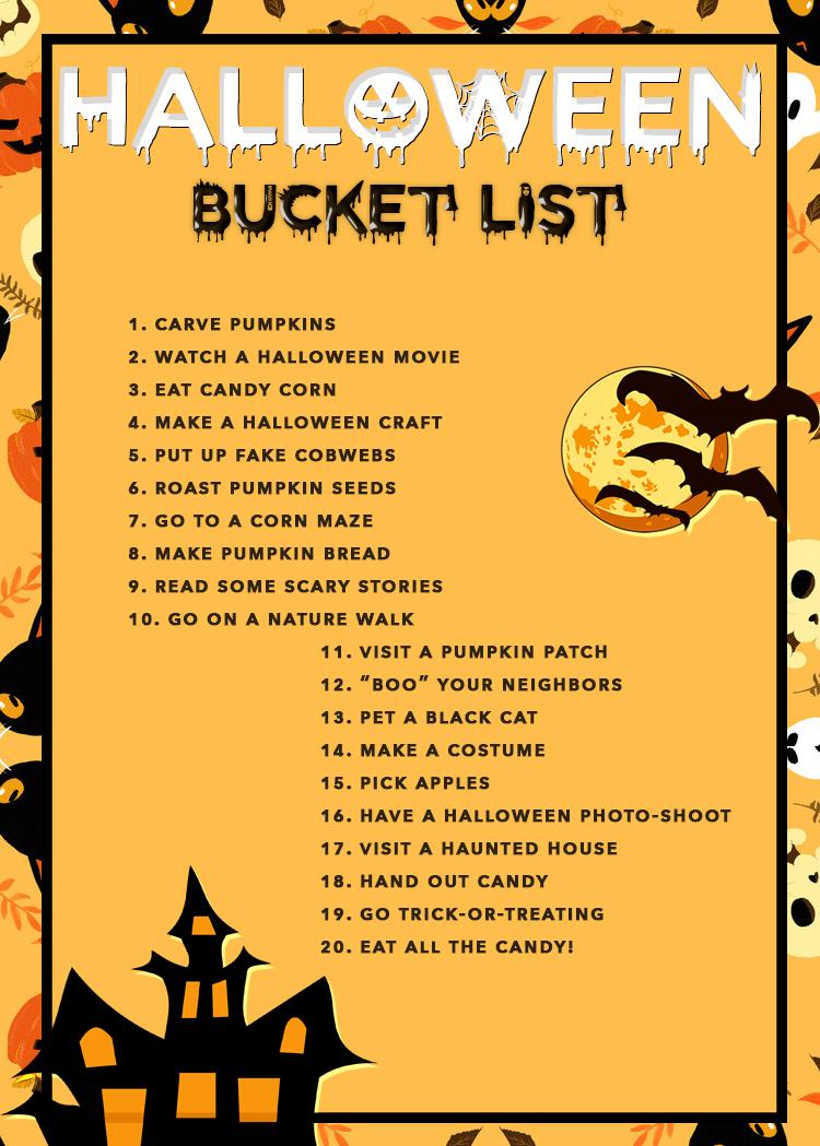20 Easy Ideas For Your Halloween Bucket List! - livingmividaloca.com