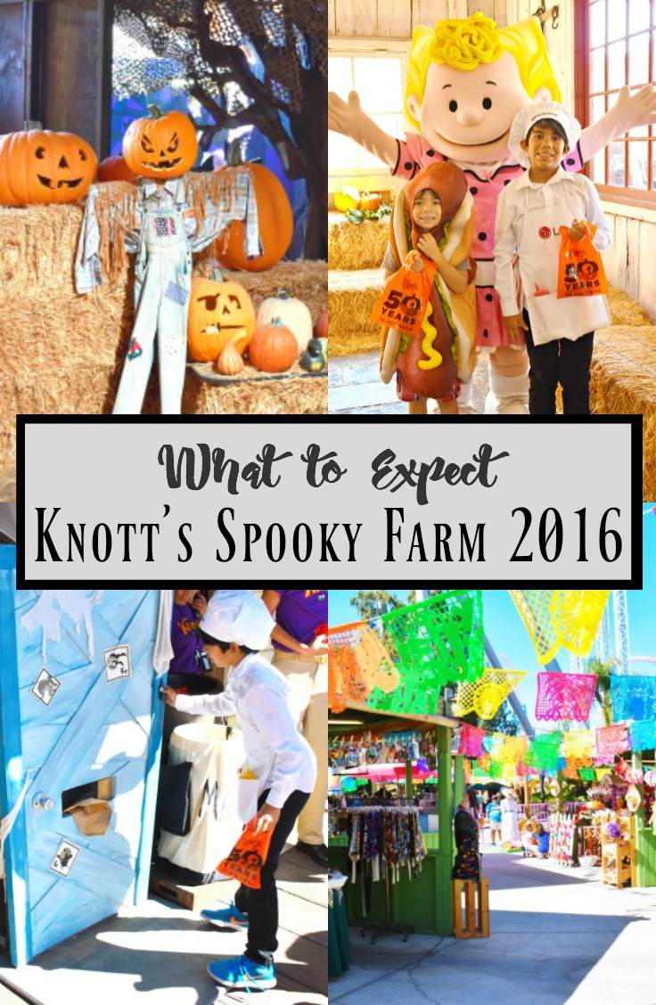 Knott's Spooky Farm 2016 at Knott's Berry Farm in Buena Park, California offers family-friendly activities, included with your admission. Knott's Spooky Farm happens every weekend throughout October. Kids can join the costume contest, go trick-or-treating, celebrate Day of the Dead at Fiesta Village, and go through the Spooky Hollow Maze in Camp Snoopy. | #KnottsSpookyFarm