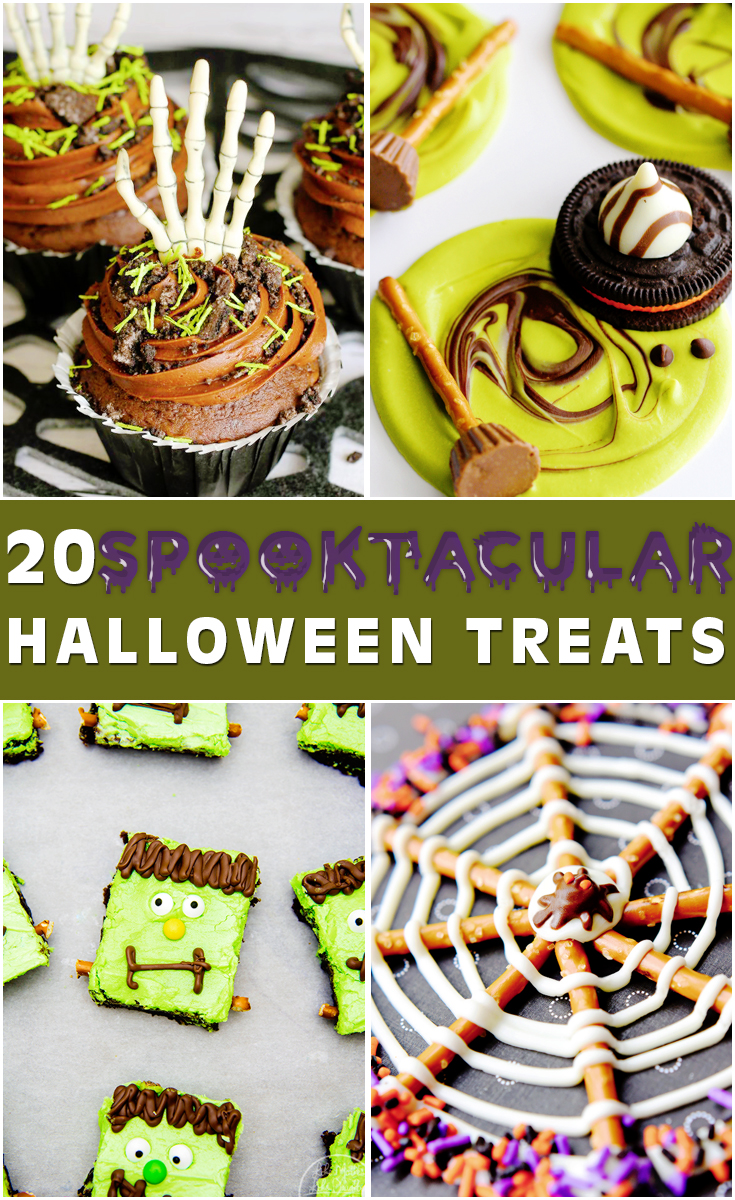 Save these 20 creative and spooktacular Halloween Treats recipes for that upcoming Halloween party. - LivingMiVidaLoca.com
