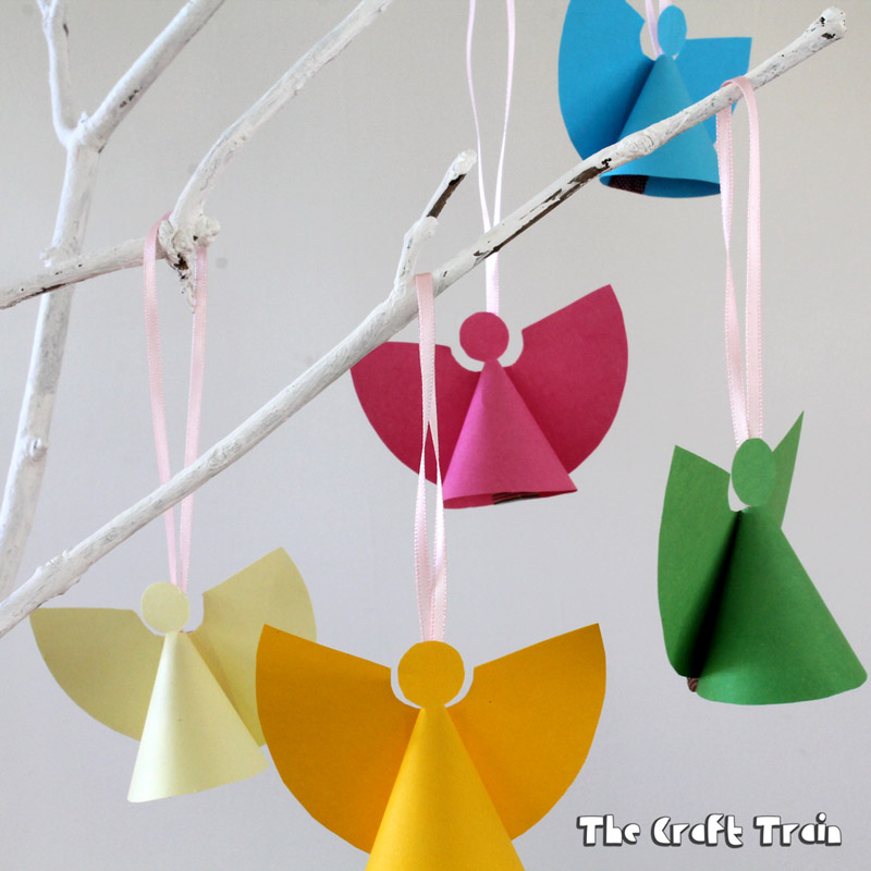 Mini Paper Angels Ornaments