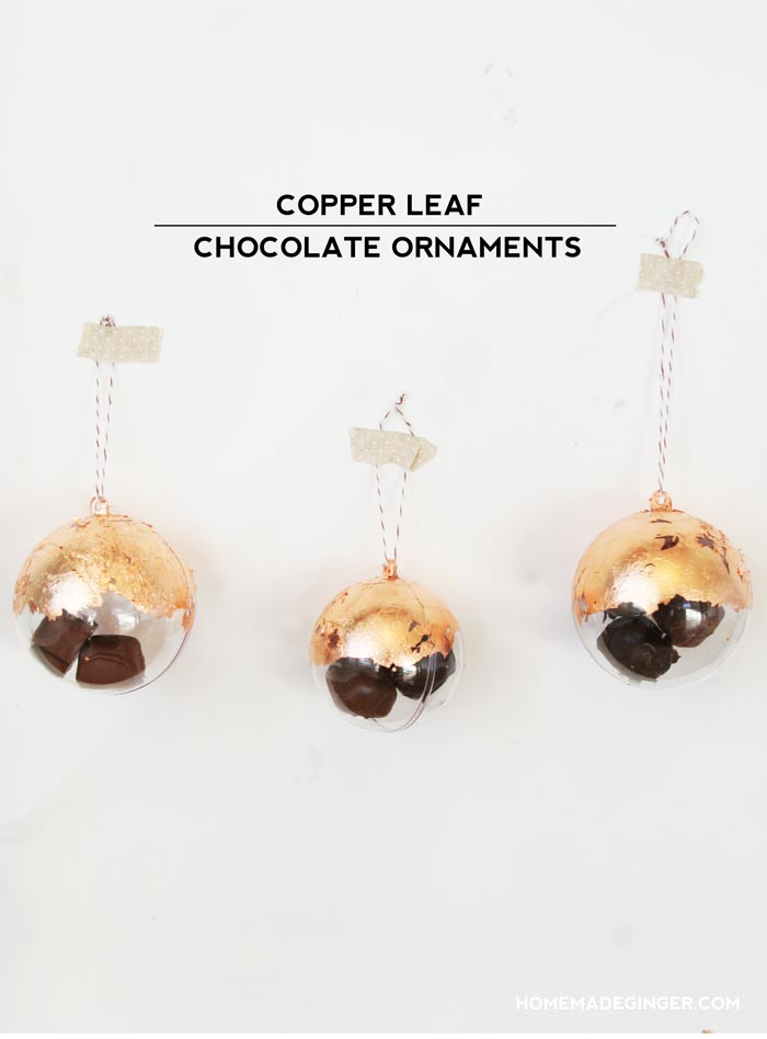 Copper leaf ornament diy craft - livingmividaloca.com