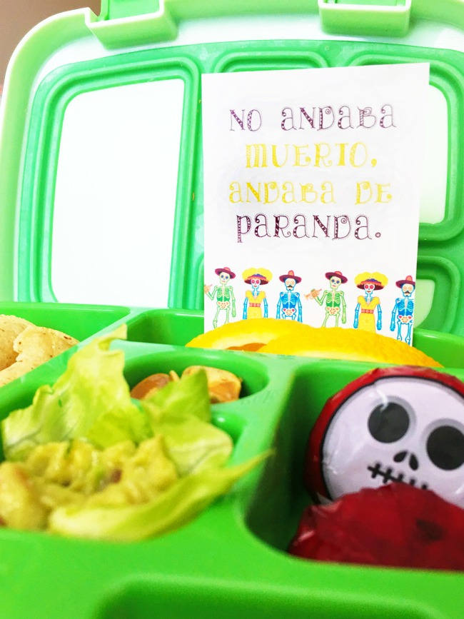Day of the Dead lunch box notes printable - LivingMiVidaLoca.com