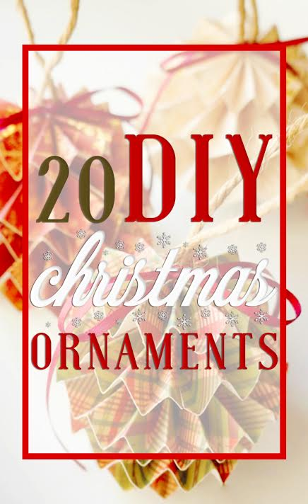 List of DIY Christmas ornaments to make on a budget - LivingMiVidaLoca.com