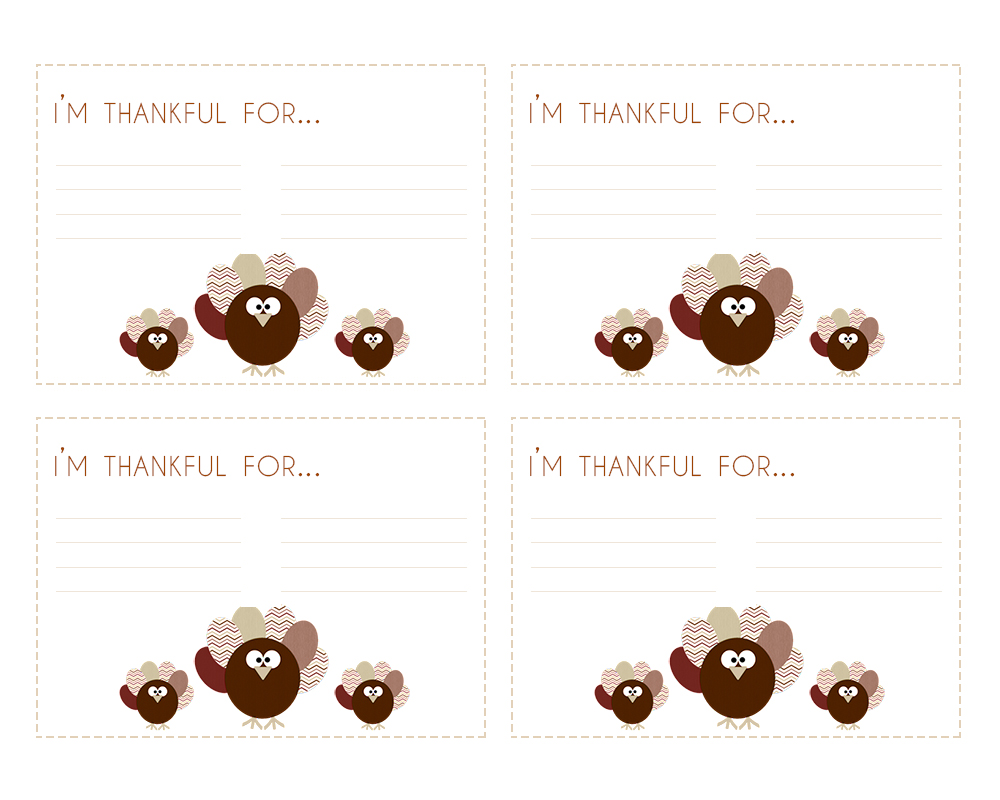 Thankful cards in Spanish to use during Thanksgiving - LivingMiVidaLoca.com